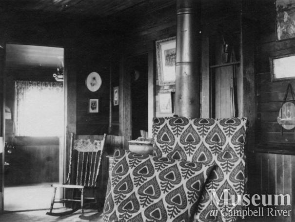 Interior of the Marlatt home on Mary Island