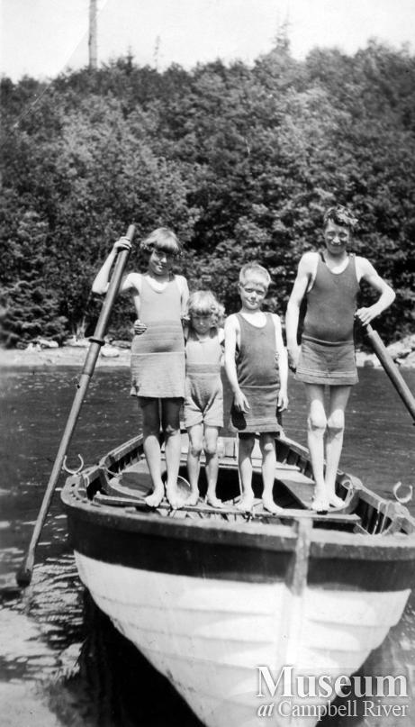 Hans and Kathinka Hansen's children at  Port Neville, B.C.
