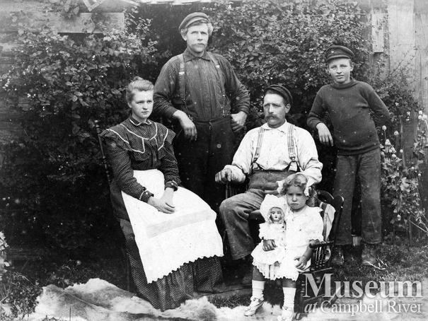 The Hansen family of Port Neville, B.C.