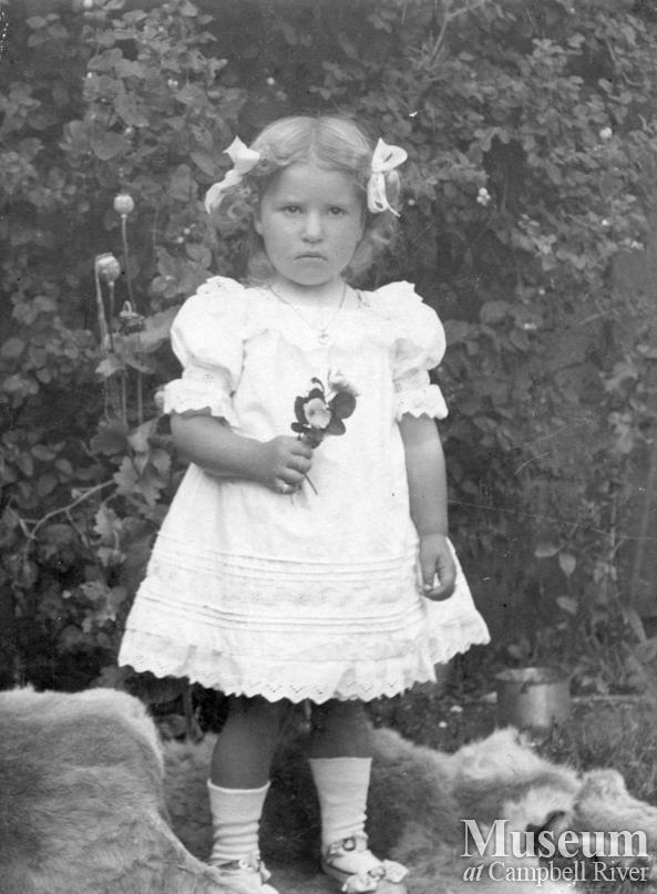 Karen Hansen daughter of early Port Neville, settler Hans Hansen.