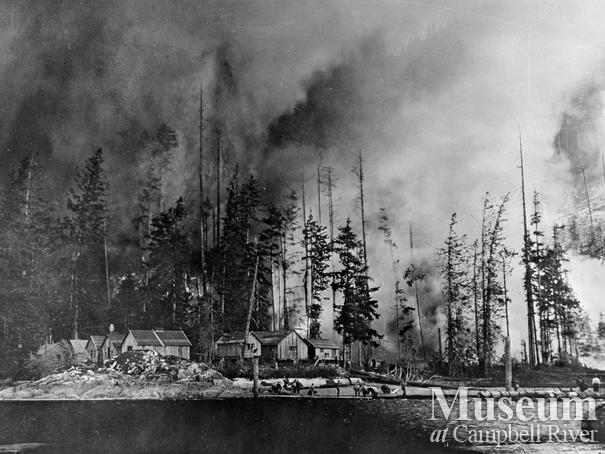 The Port Neville forest fire