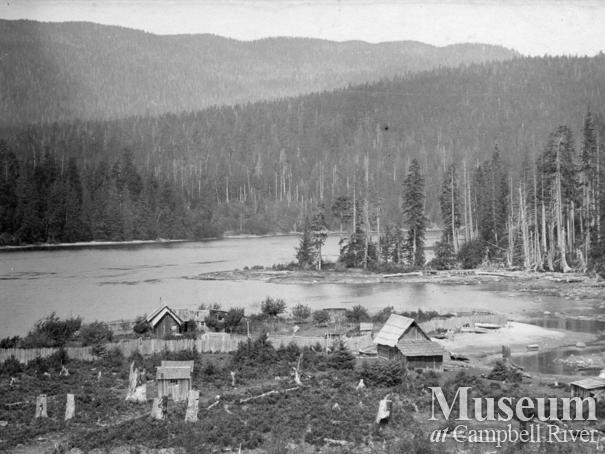 View of Hans Hansen's Ranch at Port Neville, B.C.