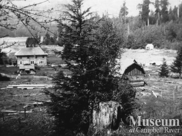 View of Hans Hansen's Ranch at Port Neville, B.C.