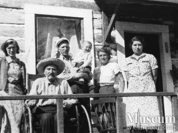 Hansen Family on the porch of their home at Port Neville