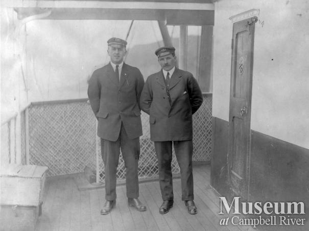 Purser Bert Robson and Captain John Park