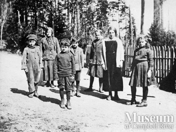 Group of children at Cortes Island