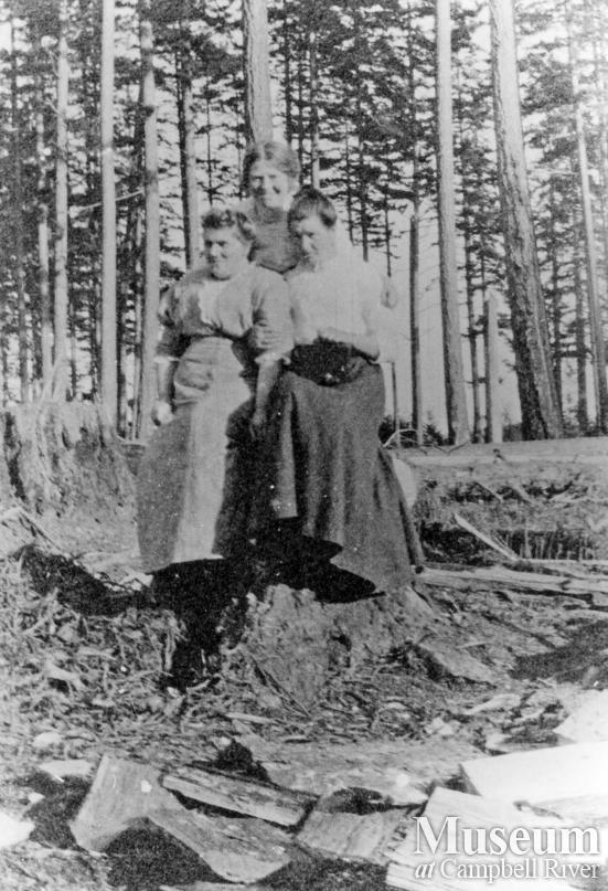 Three ladies at Cortes Island