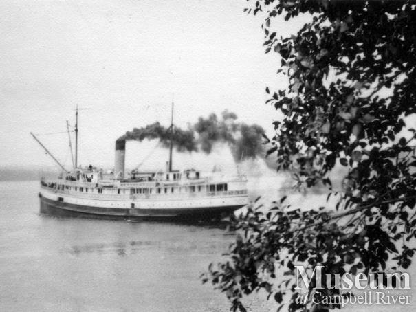 CPR Steamship, Beatrice, at Quathiaski Cove