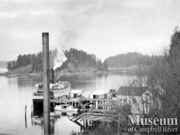 Union Steamship, Chelohsin, docked at Quathiaski Cove