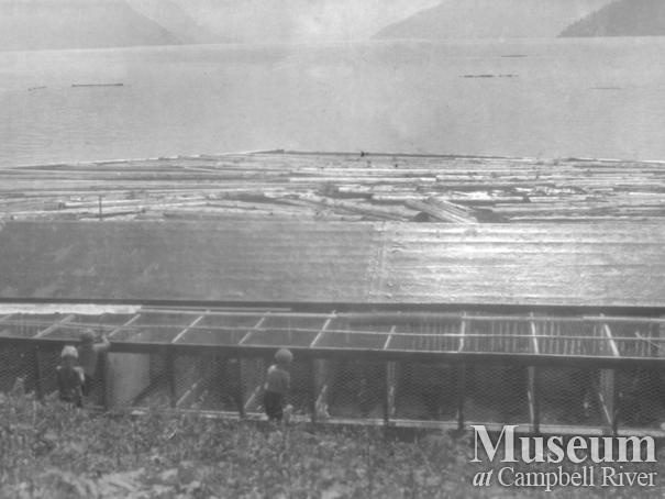August Schnarr's rabbit and marten cages, Bute Inlet homestead