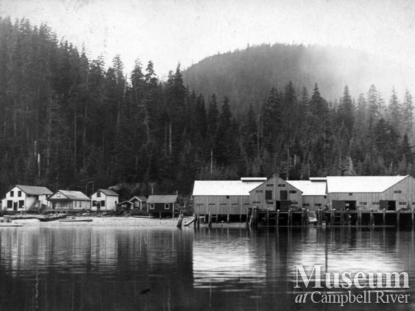 View of Blind Channel, West Thurlow Island showing the cannery