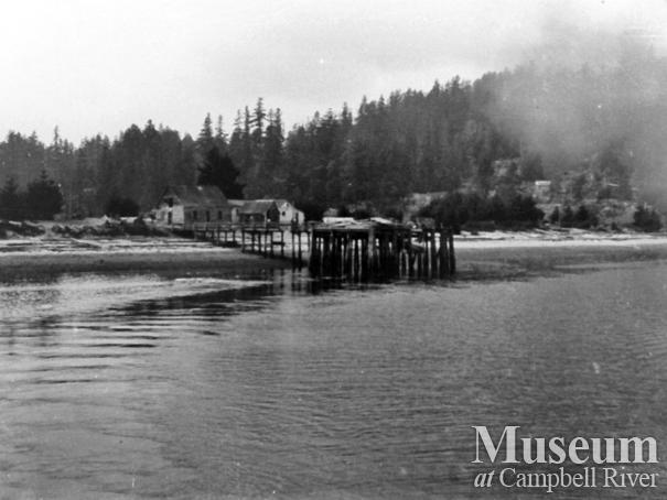 View of the Mansons' Landing wharf, Cortes Island