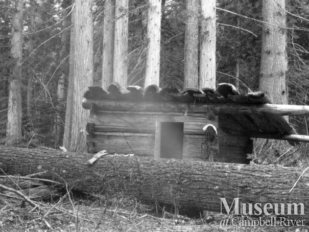 One of August Schnarr's trapping cabins