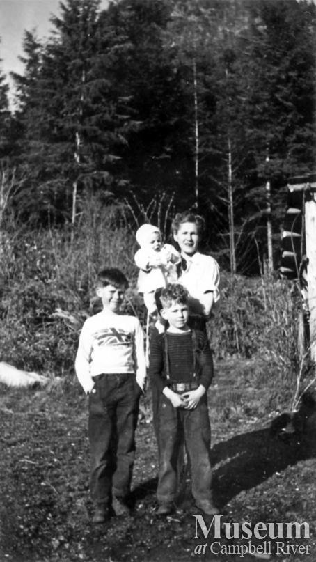 The Olsen family at Big Bay, Stuart Island