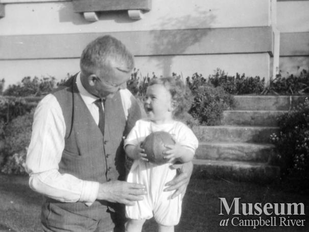 W.E. Anderson with his grandson Edward McAllister