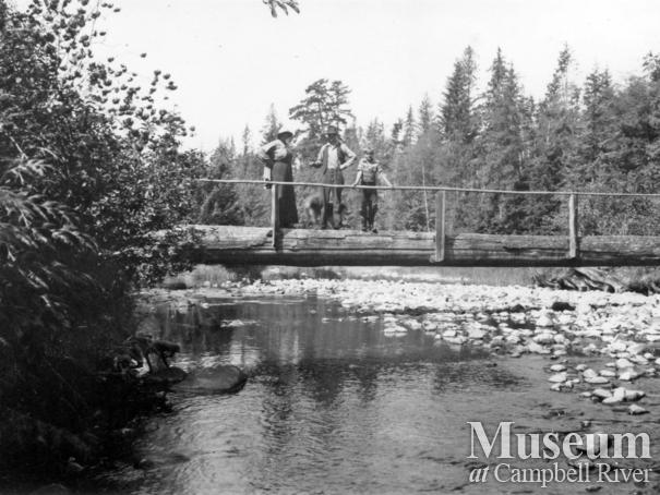 Bridge over the creek at Grassy Bay, Loughborough Inlet