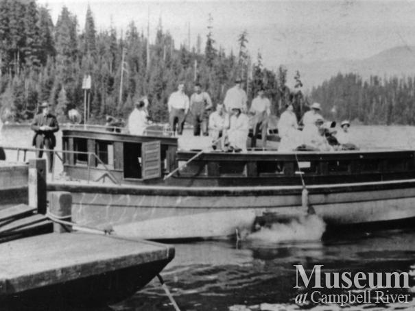 W.E. Anderson's boat, the Quathiaski 10