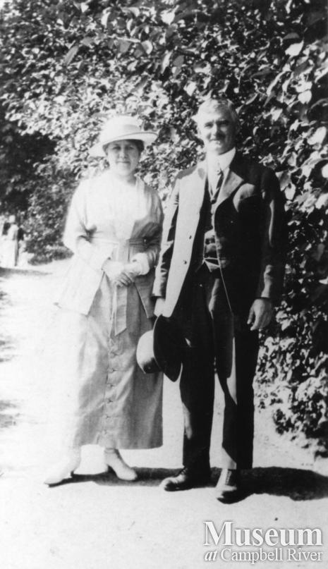 Mr. and Mrs. W.E. Anderson, owners of the Quathiaski Canning Company