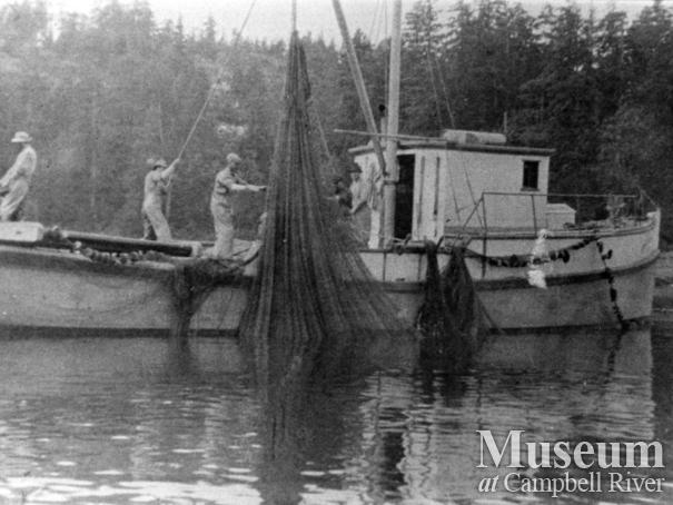 One of the Quathiaski Canning Company's seine boats