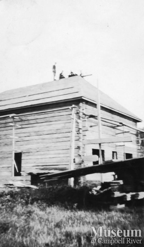 The Hansen family home under construction at Port Neville, B.C.