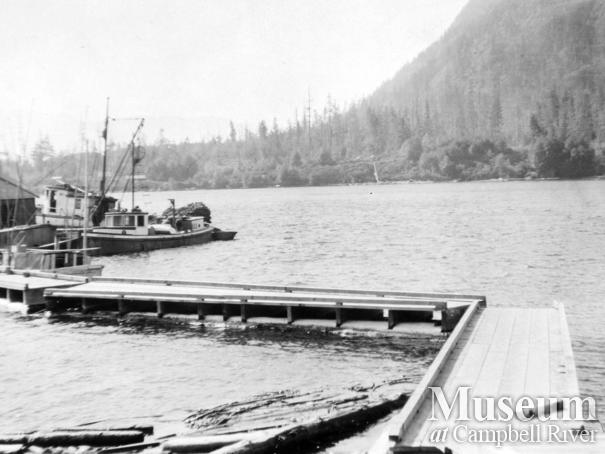 View of the wharf at Port Neville, B.C.