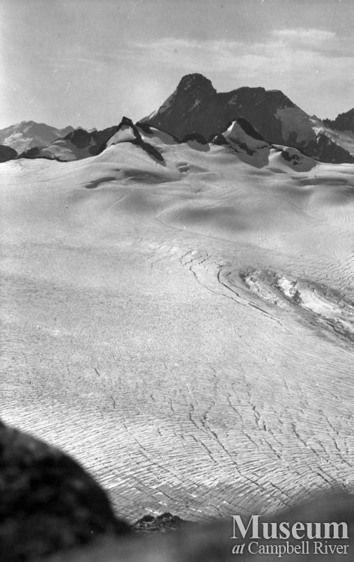 View of glacier at the head of Bute Inlet